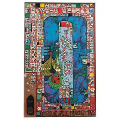 Olympic Games 1972 Lithograph by Friedensreich Hundertwasser