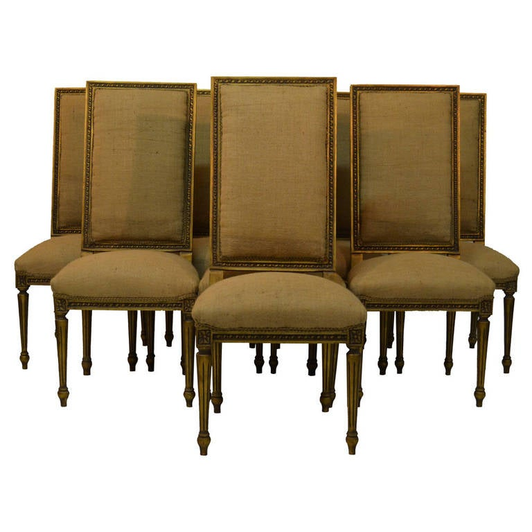 Louis XVI Dining Chairs Set Of Eight At 1stdibs