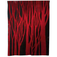 """Red Trees,"" 1966 Tapestry by Jan Yoors"