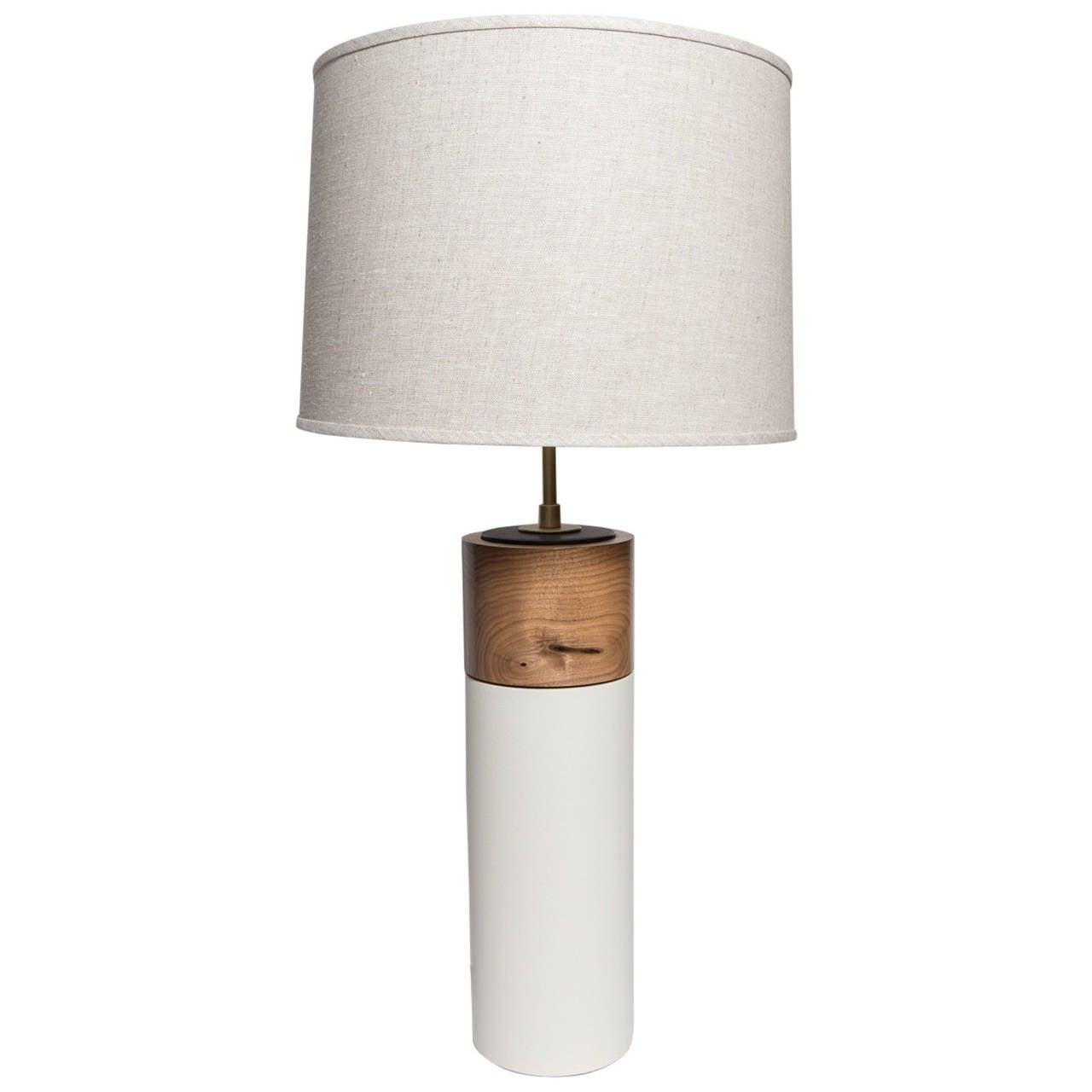 Stone and Sawyer Ceramic and Walnut Table Lamps