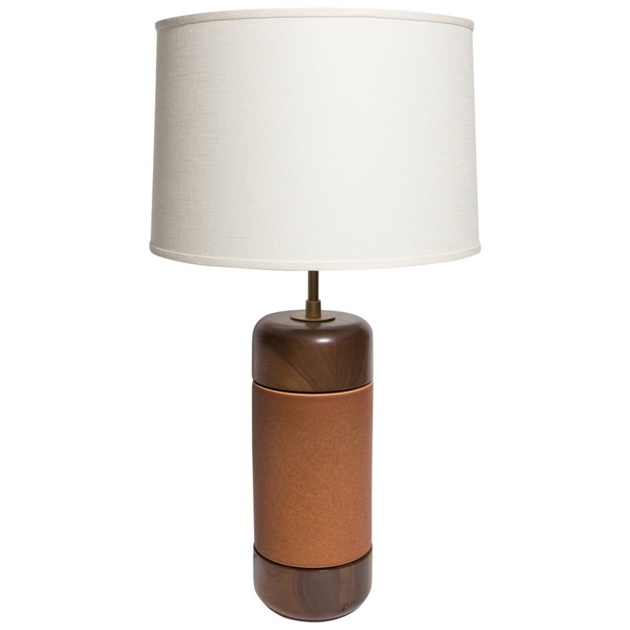 Stone and Sawyer Walnut and Ceramic Table Lamp