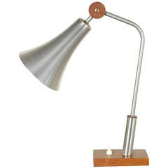 Philips Aluminum and Wood Adjustable Desk Lamp