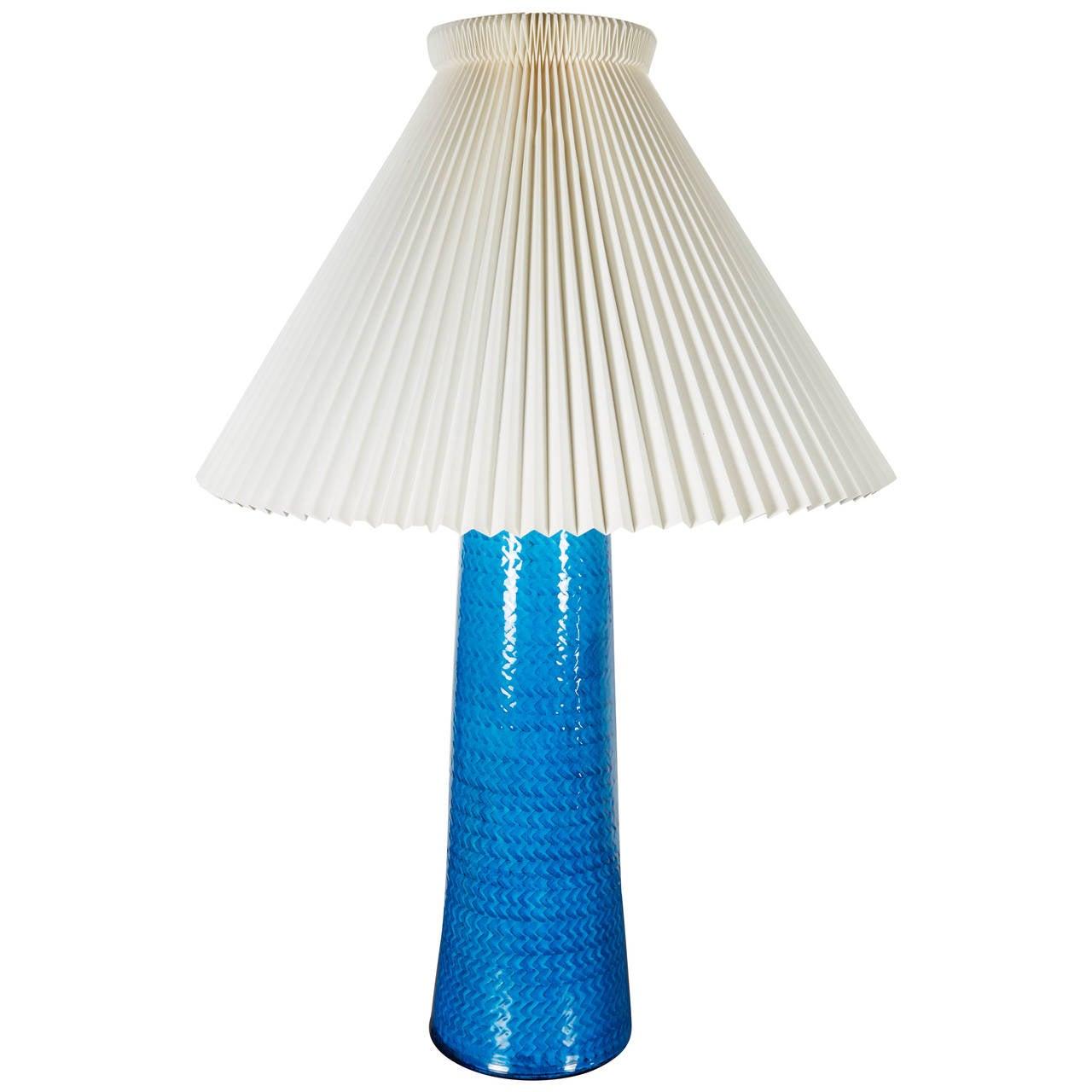Blue ceramic table lamps - Nils K Hler Blue Ceramic Table Lamp 1