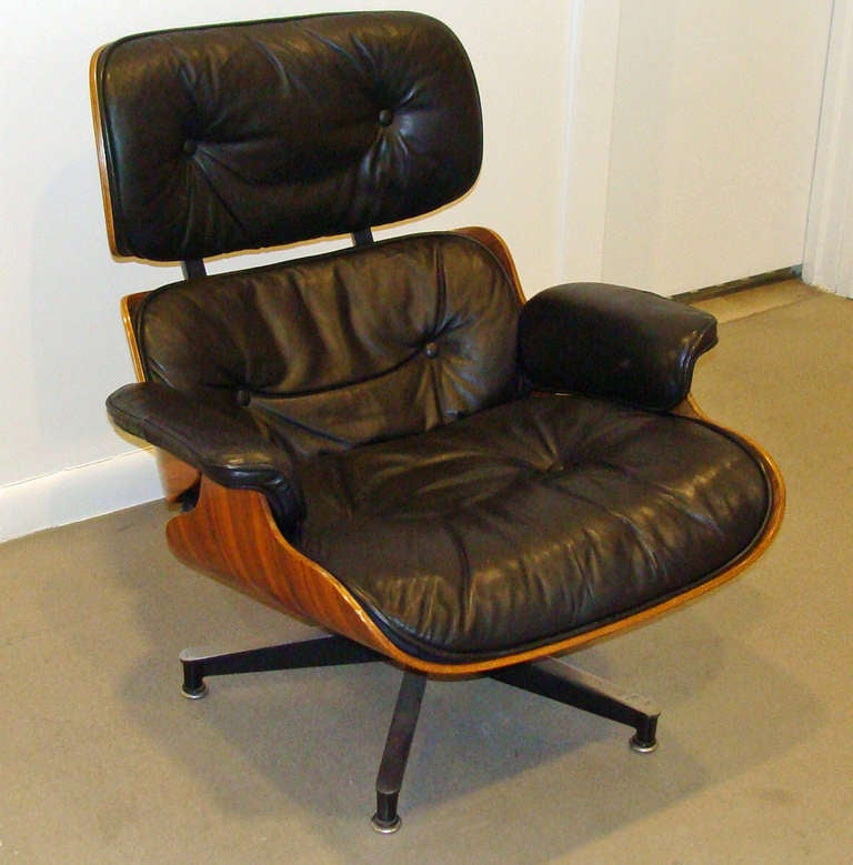 Vintage Eames Lounge Chair And Ottoman At 1stdibs