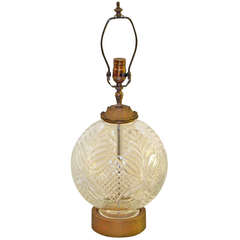 Cut-Glass Table Lamp