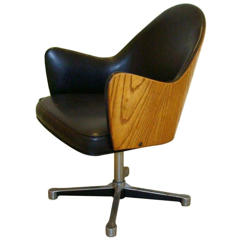 Rare Milo Baughman Work Chair 1