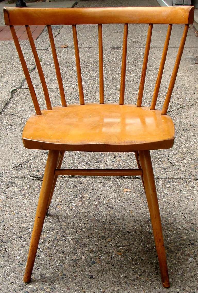 Mid Century Modern George Nakashima Straight Chair For Knoll