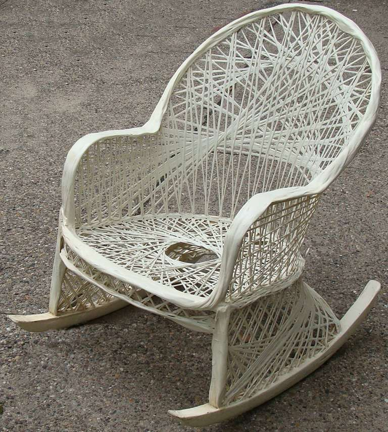 Marvelous Unusual To Find This Russell Woodard Rocking Chair Design In Spun Fiberglass  And Resin. Lacks