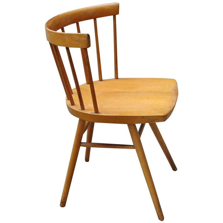 George Nakashima Chairs george nakashima straight chair for knoll at 1stdibs