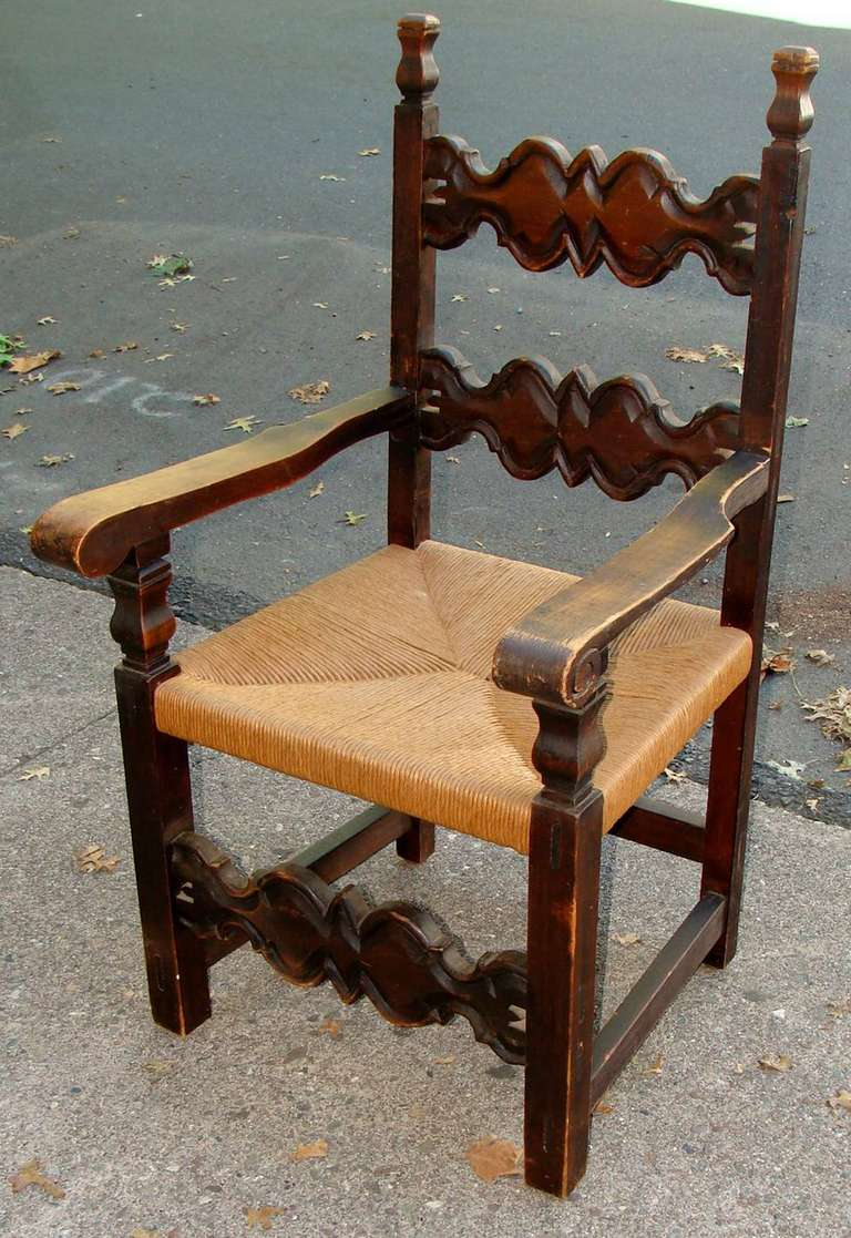 Pair Of Spanish Colonial Style Chairs For Note In Warehouse Please Contact Dealer Rarely Seen Beautifully