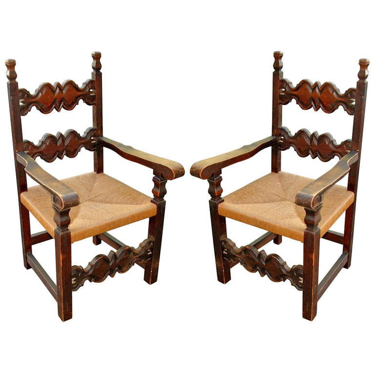 Pair Of Spanish Colonial Style Chairs At 1stdibs