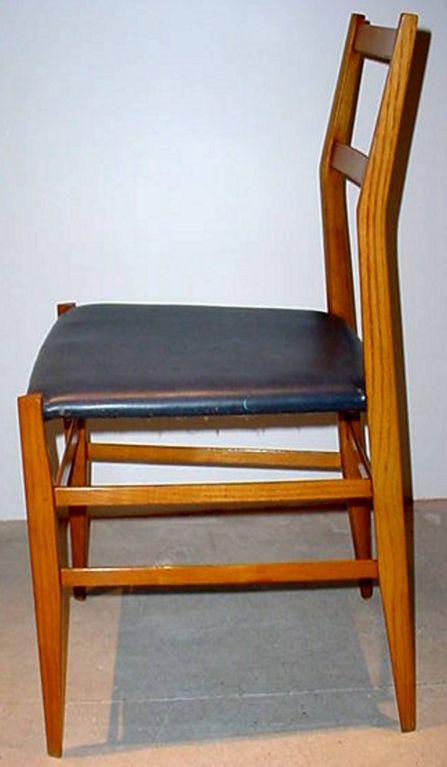 Mid-Century Modern Pair of GIO PONTI Superleggera Chairs For Sale