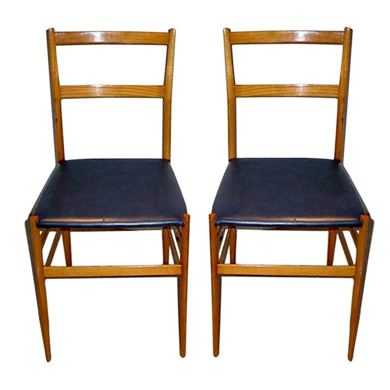 Pair Of GIO PONTI Superleggera Chairs 1