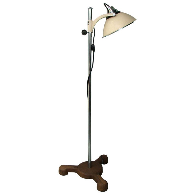 vintage industrial floor lamp. Black Bedroom Furniture Sets. Home Design Ideas