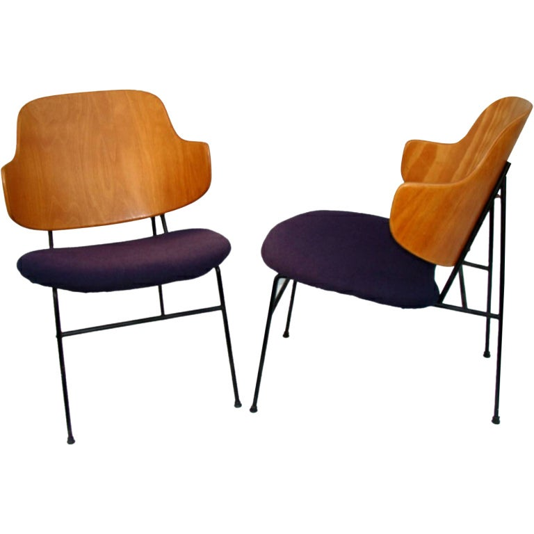 Pair of Chairs by Ib Kofod Larsen