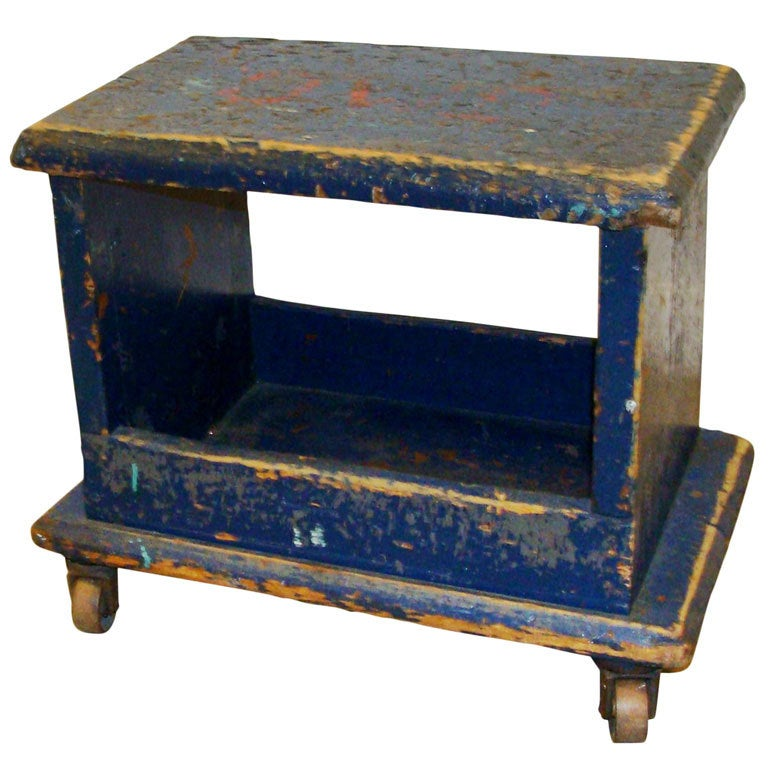 Early Industrial Stool Or Low Table At 1stdibs