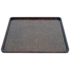 Unusual Large Square Japanese Lacquer Tray