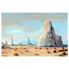 Monument Valley Oil on Canvas, Circa 1930