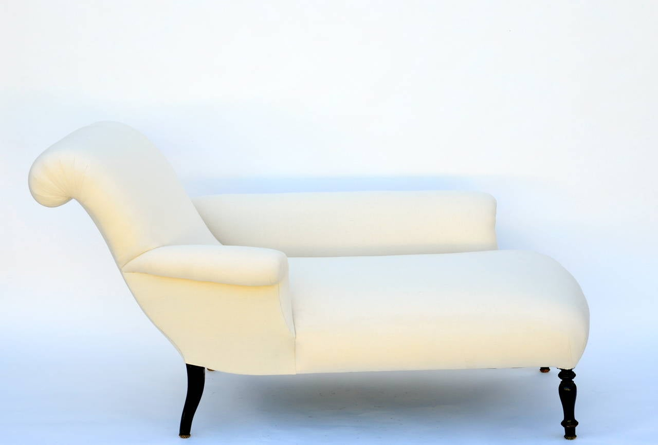 Exceptional napoleon iii meridienne daybed or chaise for Chaise napoleon