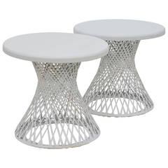Pair of Russell Woodard Indoor / Outdoor Resin Tables