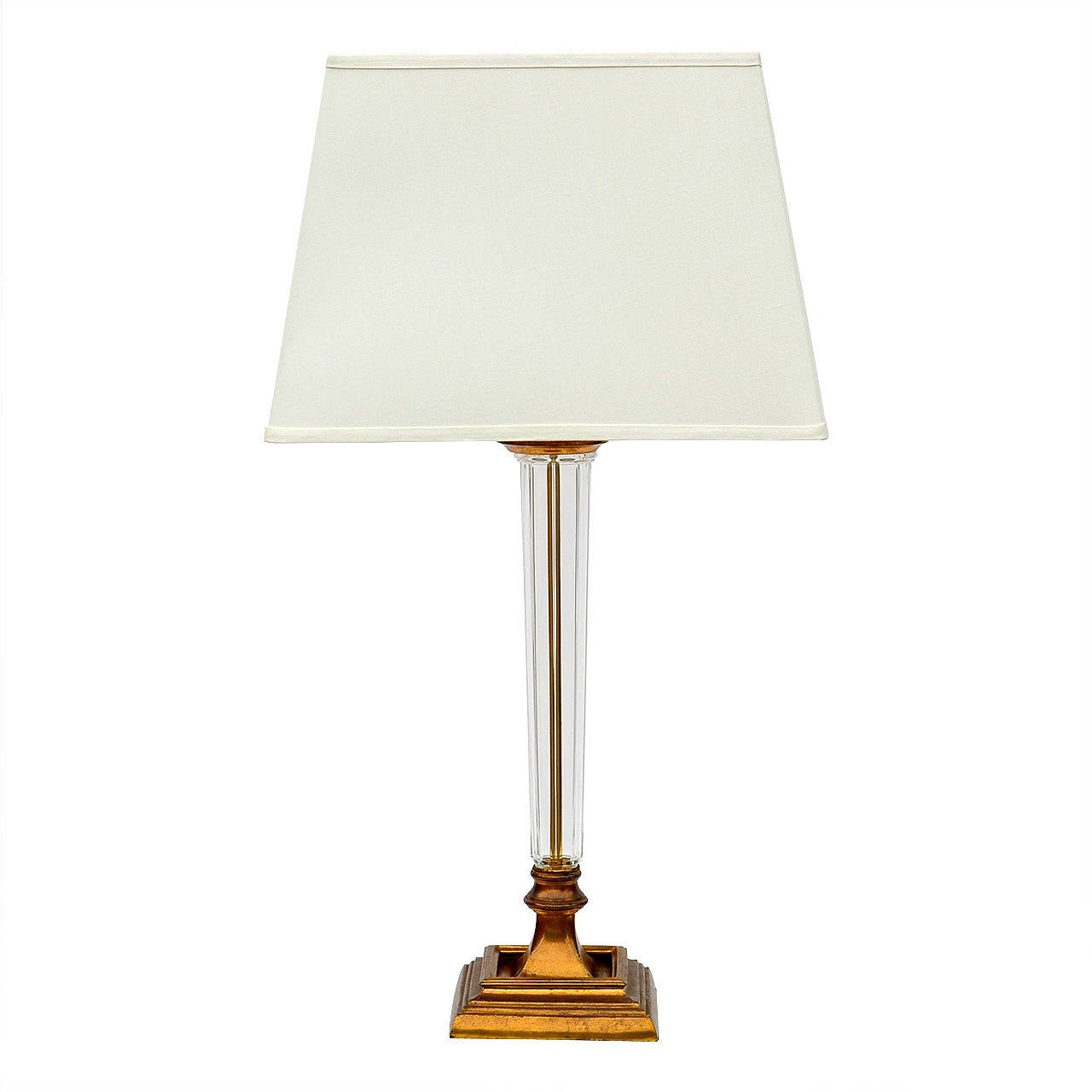 Fluted glass column table lamp designer tables reference for Table column