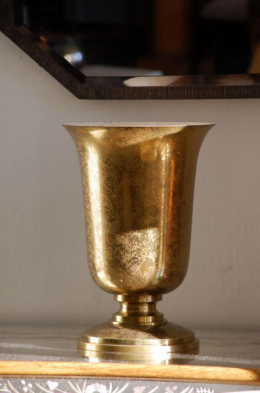 Gilt Bronze French Art Deco Urn Lamp by Genet & Michon 3