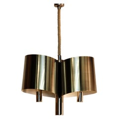 Chic French, 1970s Polished Chrome Ribbon Chandelier by Maison Charles