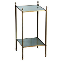 Chic French Gilt Bronze Two-Tier Side Table by Maison Baguès