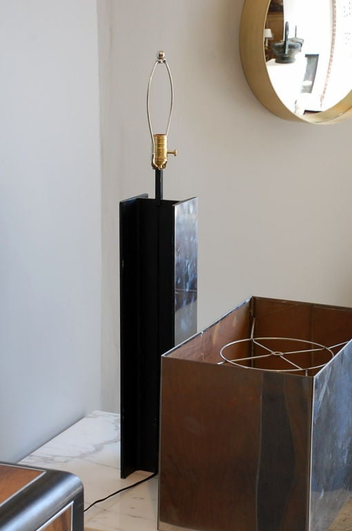 Late 20th Century Sculptural 1970s Chrome Table Lamp by Curtis Jere, Signed For Sale