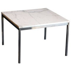Original Marble and Steel Coffee/End Table by Florence Knoll for Knoll