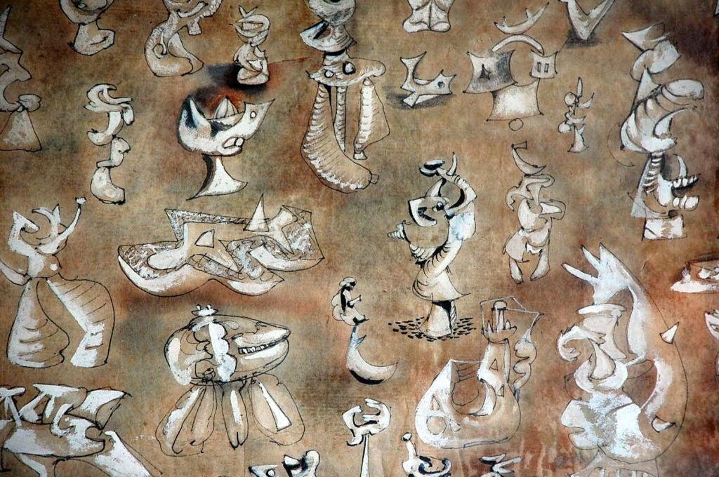 Surrealist Gouache Drawing by Roberto Matta 5
