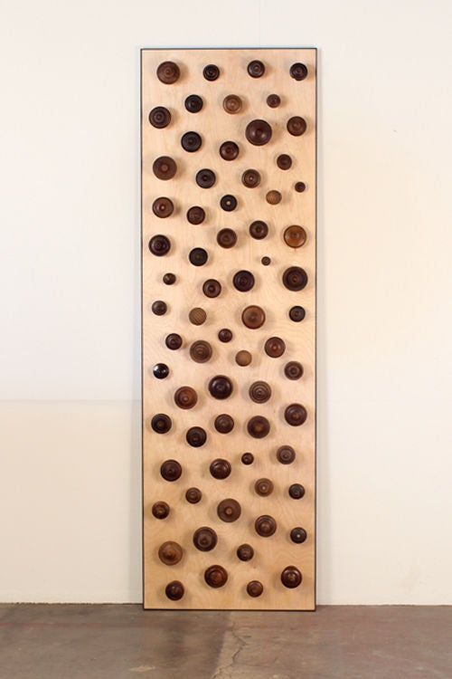 'Boucliers' Pair of Decorative Turned Wood Panels by Eric Thévenot 3
