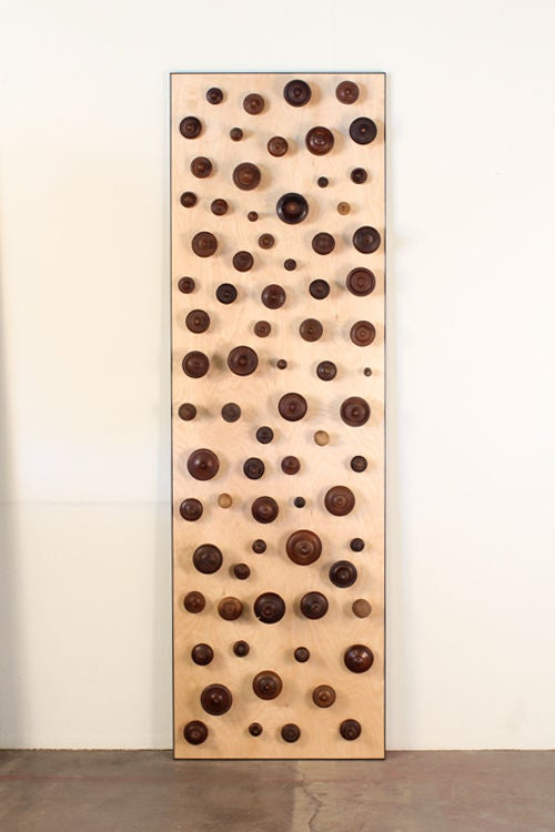 'Boucliers' Pair of Decorative Turned Wood Panels by Eric Thévenot 4