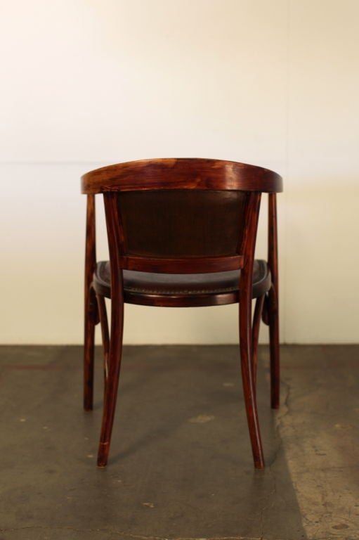 viennese bent wood and leather desk chair at 1stdibs. Black Bedroom Furniture Sets. Home Design Ideas
