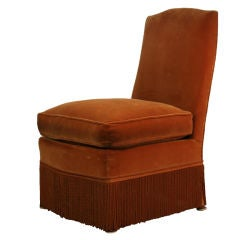 Chic Small French, 1940s Slipper Chair