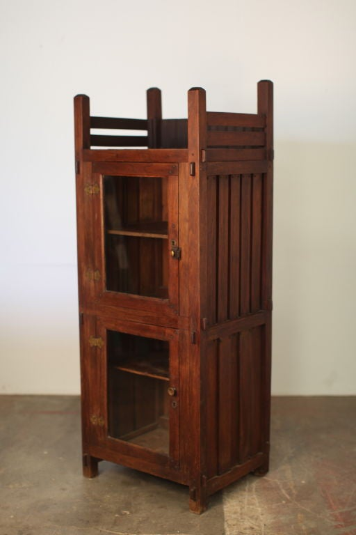 Elegant arts and crafts display cabinet for sale at 1stdibs for Arts and crafts storage cabinet
