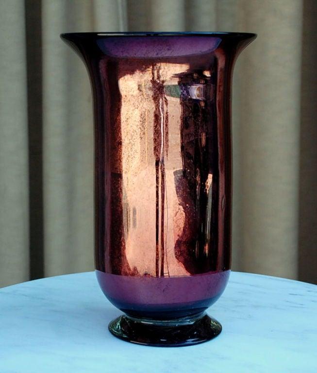 Large mercury glass decorative urn / vase 2