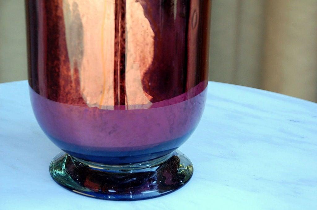 large mercury glass decorative urn vase image 3