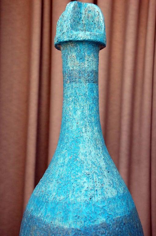Glazed Heavy Terra Cotta Folk Art Sculpture For Sale