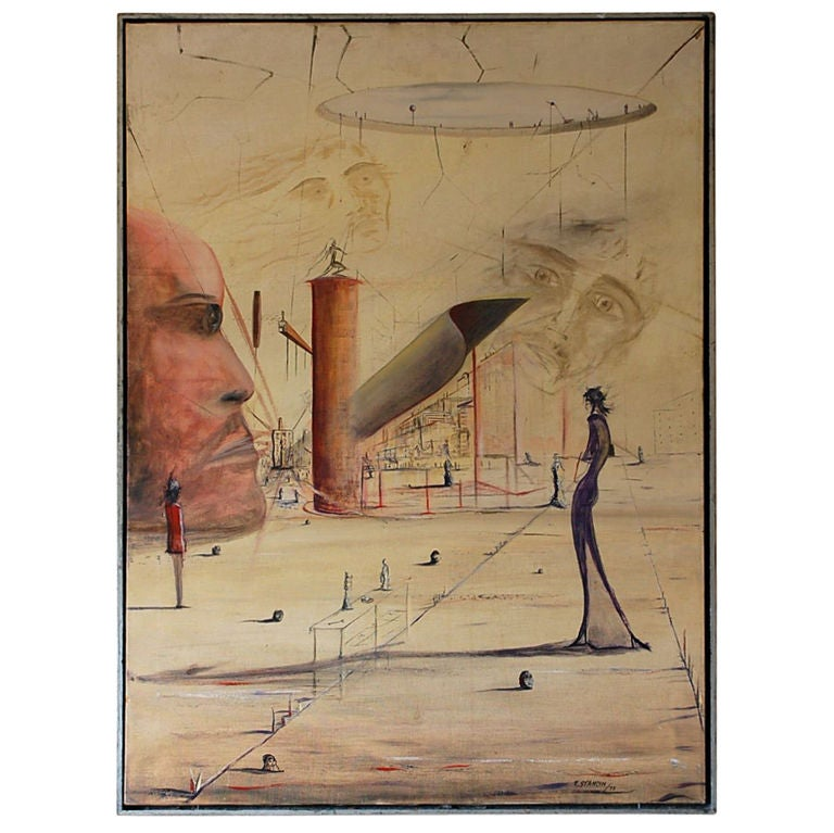 Surrealist Painting by Kenneth Stancin