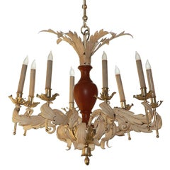 French Neoclassical Tole Chandelier