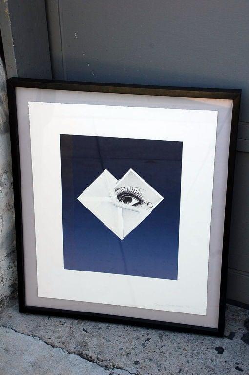 Ink Surrealist Framed Print by Bruce Richards For Sale