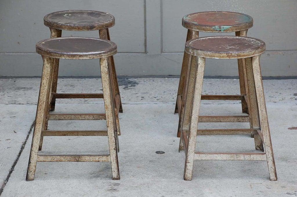 industrial metal stool 1