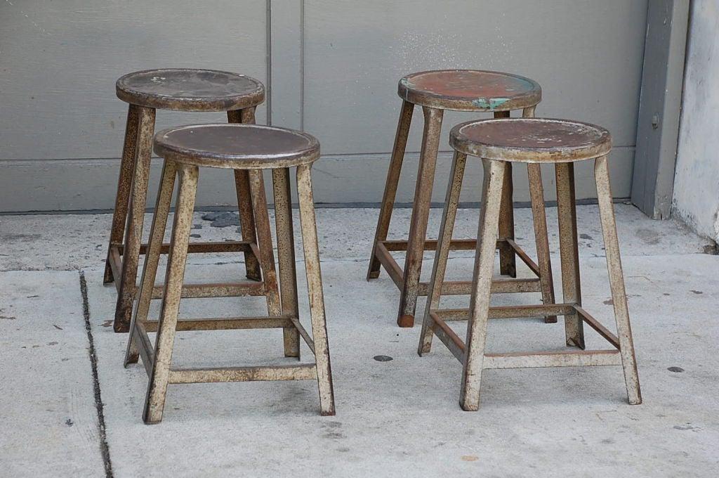 industrial metal stool 2