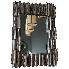 Exceptional American Brutalist Mirror