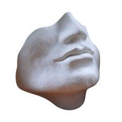 Unusual large faux plaster face sculpture