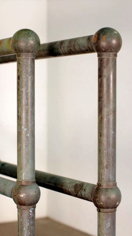 Pair of Bronze Architectural Railings, Balustrades or Room Dividers For Sale 3