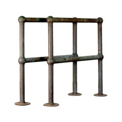 Pair of Bronze Architectural Railings, Balustrades or Room Dividers