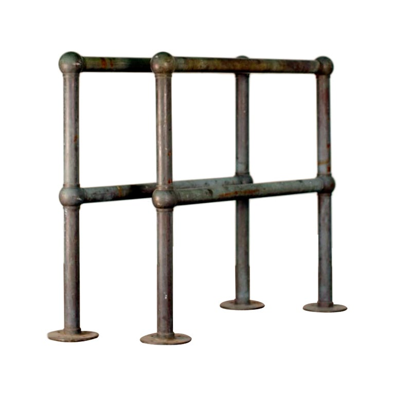 Pair of Bronze Architectural Railings, Balustrades or Room Dividers For Sale