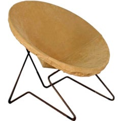 Single suede lounge chair